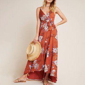 Anthropologie Palmetto Wrap Maxi Dress